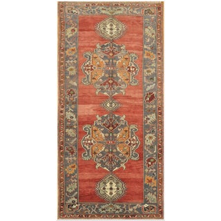 Hand Knotted Vintage Oriental Rug - 5′ × 10′5″