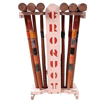 Image of Vintage Croquet Set - 24 Pieces