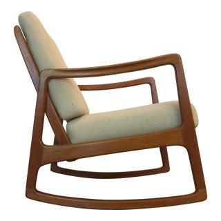 Ole Wanscher Danish Teak Rocking Chair