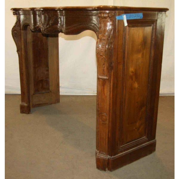 Hand Carved Oak French Provincial Mantel - Image 4 of 10
