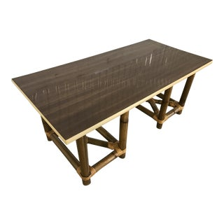 Mid-Century Tiki Bamboo Coffee Table