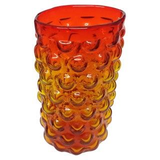 1962 Blenko Amberina Bubble Vase Model 6041