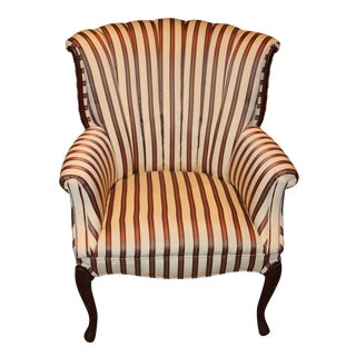 Antique Channel Back Chair Reupholstered