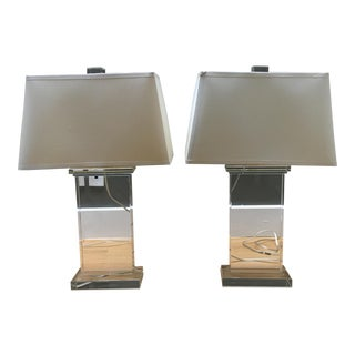 Williams Sonoma Crystal Table Lamps - A Pair