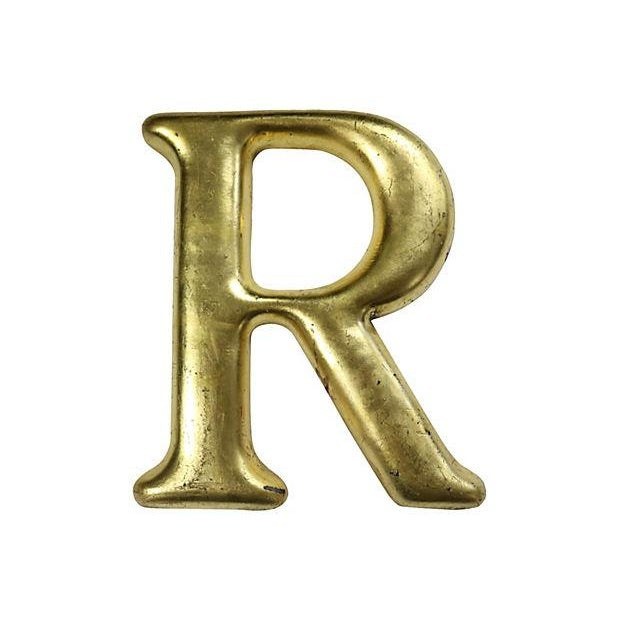 """Image of English Pub Sign Letter """"R"""""""