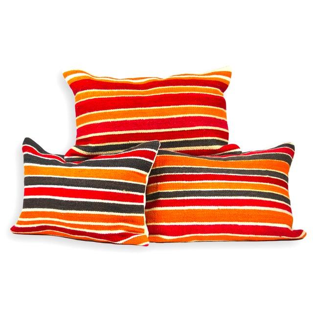 Image of Striped Kilim Lumbars - Set of 3