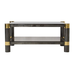 Karl Springer Smoked Glass Coffee Table
