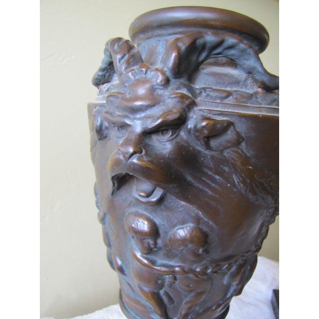 Vintage Bronze Urns - A Pair - Image 8 of 10