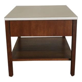 Mid-Century Florence Knoll Walnut Side Table