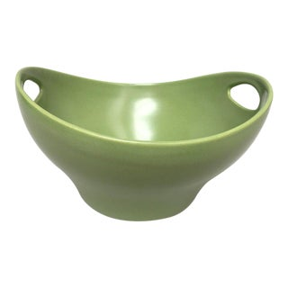 Scandinavian Modern Hoganas Keramik Green Ceramic Bowl