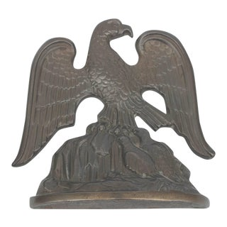 Bronze Eagle Bookends Signed and Dated, 1931