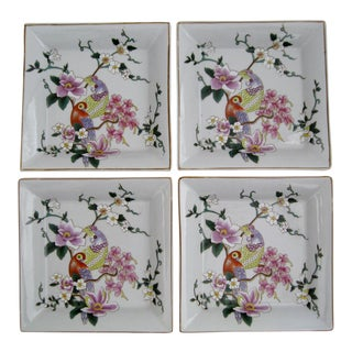 Glazed Porcelain Plates - Set of 4