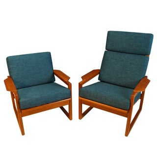 Danish Teak Lounge Chairs by Ib Kofod Larsen