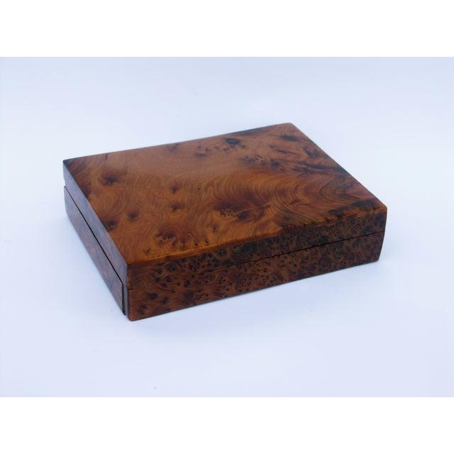 Image of Decorative Juniper Burl Wood Box
