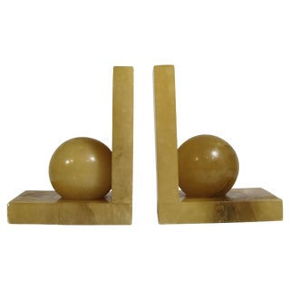Deco Style Stone Bookends - A Pair