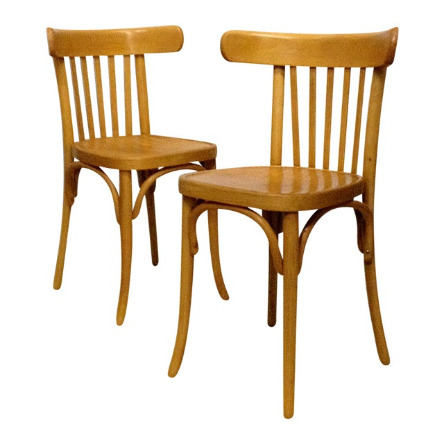 Vintage Bentwood Slat Back Chairs - A Pair - Image 1 of 5