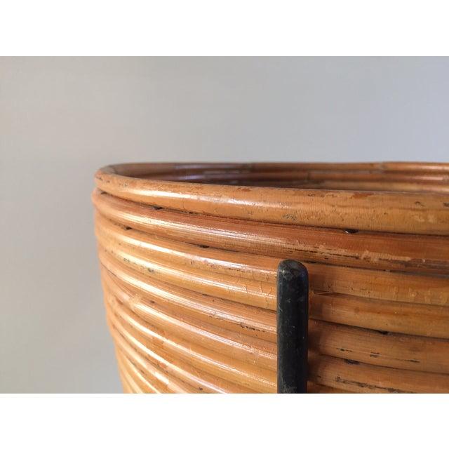 Image of Mid Century Modern Bamboo Bullet Planter