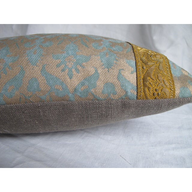 Image of Fortuny Pillows w/Antique Metalic Trim - A Pair