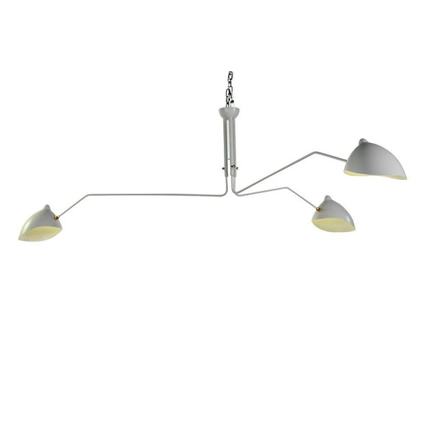 Image of White Serge Mouille-Inspired Pendant Lamp
