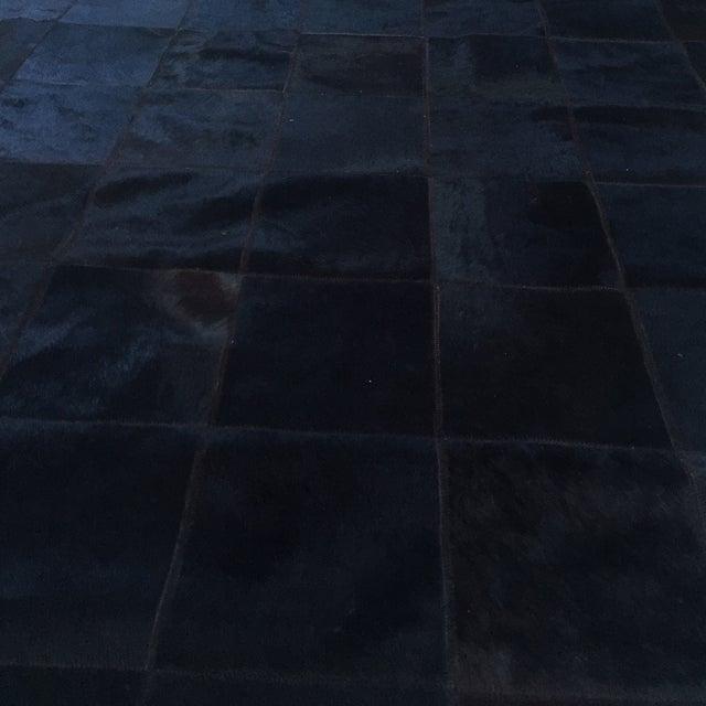 Cow Hide Tile Rug - Dark Brown 6' X 9' - Image 6 of 6