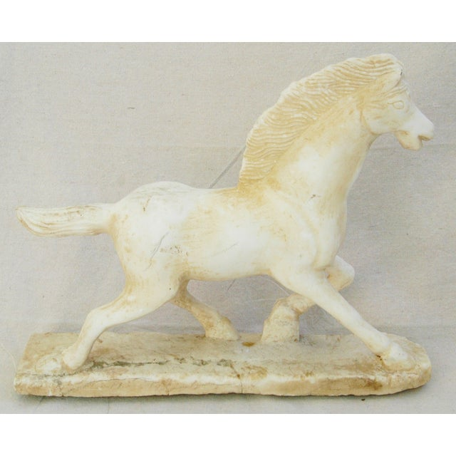 1940's Carved Marble Horse Statue - Image 7 of 11