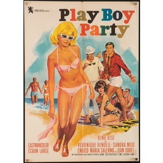 Vintage 1966 French 'Play Boy Party' Film Poster