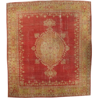 "Pasargad NY Antique Turkish Oushak Hand-Knotted Rug (from Blair House, DC) - 11'10"" x 13'7"""