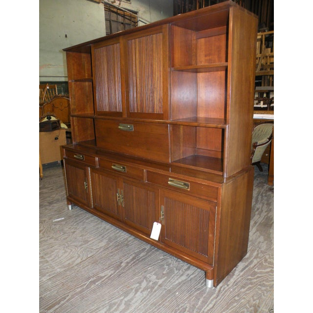 Image of Willett Trans East Mid Century Bookcase Cabinet