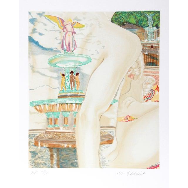 "Image of Martha Edelheit, ""Bethesda Fountain,"" Lithograph"