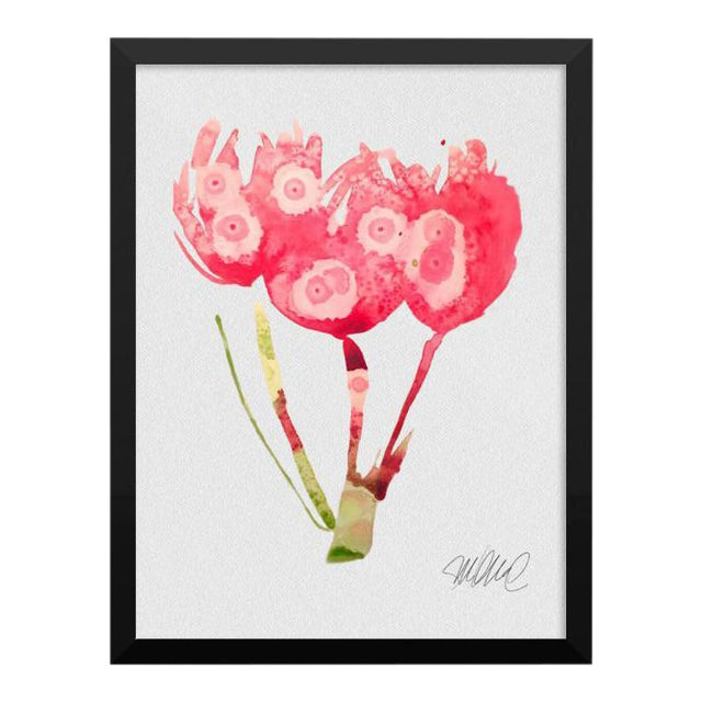 Framed Botanical Print Pink - Image 1 of 3