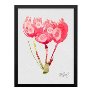 Framed Botanical Print Pink
