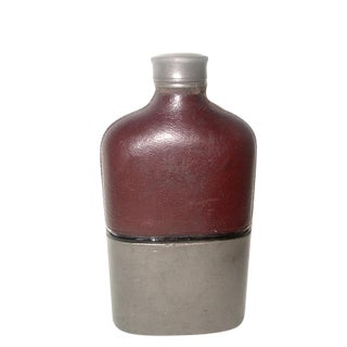 19th Century English Leather Flask