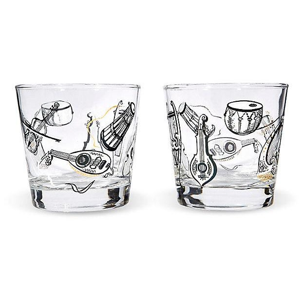 60s Musical Glass Tumblers - Set of 6 - Image 3 of 3