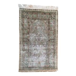 Silk Hereke Prayer Area Rug - 2′6″ × 4′