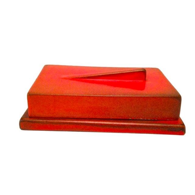 Image of Burnt Orange German Bauhaus Lidded Box