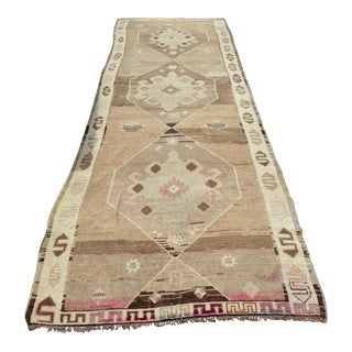 Antique Turkish Oushak Runner - 3′10″ × 13′