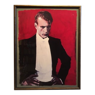 "Contemporary Framed Michael Vollbracht ""Gary Cooper"" Print"