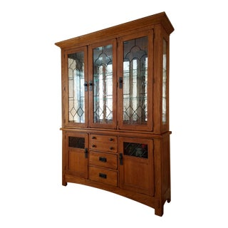 Broyhill Attic Heirlooms Oak China Cabinet
