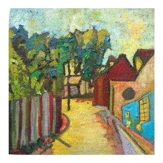 """Grande Rue De La Petite Village"" Original Oil Painting"