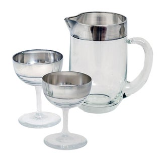 Dorothy Thorpe Silver Band Cocktail Set - Set of 3