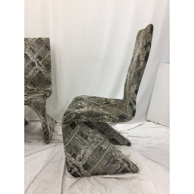 Futuristic Gray Swan Chairs - Set of 3 - Image 9 of 9