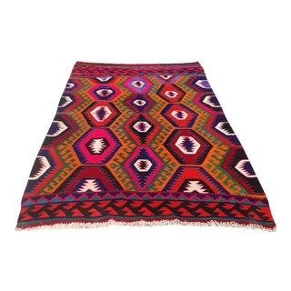 Vintage Turkish Kilim Rug - 6′2″ × 8′7″