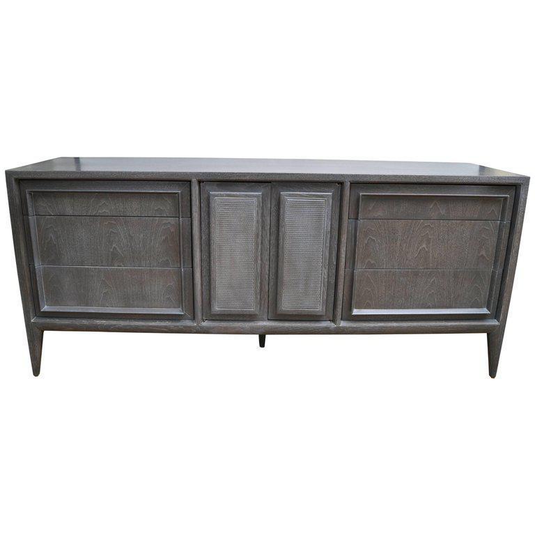 Exquisite Century Furniture of Distinction Gray Finish Credenza