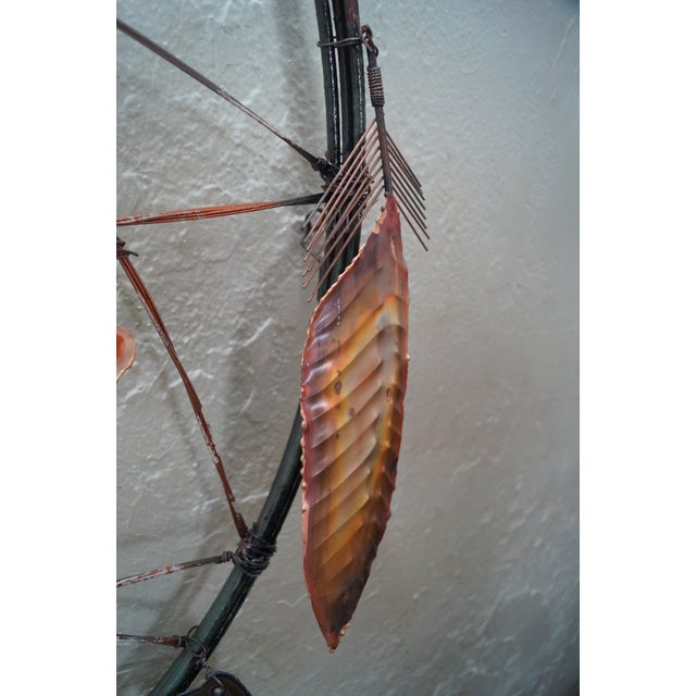 Curtis Jere Metal Dreamcatcher Wall Sculpture - Image 9 of 10