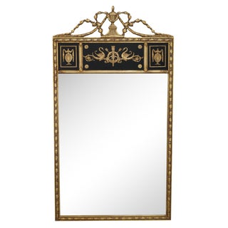 Quality Swan Carved Regency Style Gilt Wall Mirror