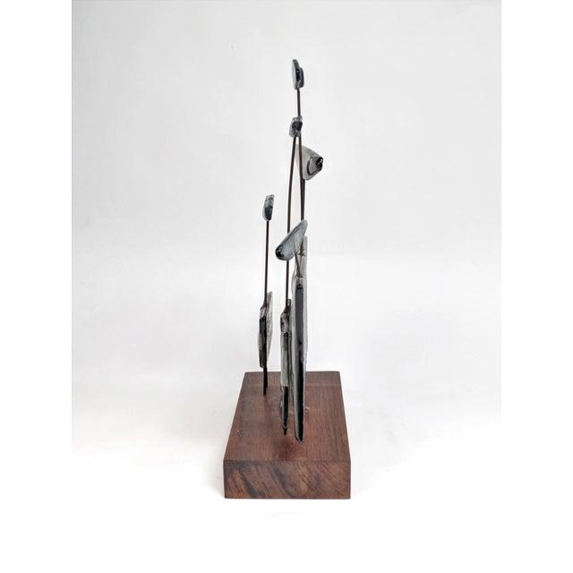 Higgins Style Studio Art Glass Sculpture on Wood Base - Image 4 of 11