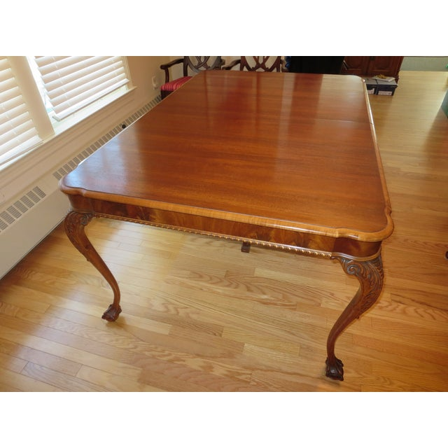 Antique Mahogany Clawfoot Dining Table - Image 2 of 6