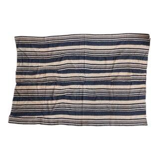 Striped Indigo African Textile Throw