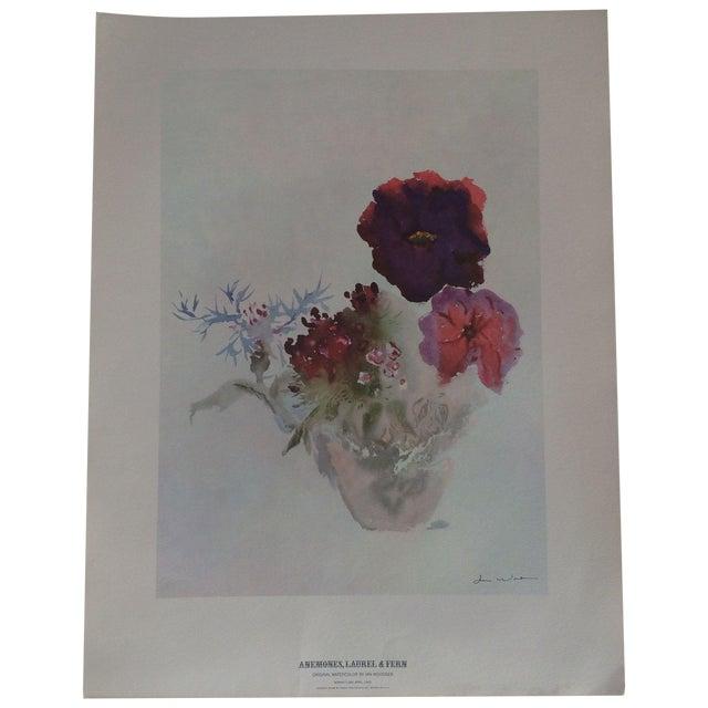 Art Print by Ian Woodner Anemones, Laurel & Fern - Image 1 of 8