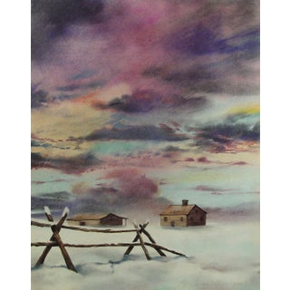 Prairie Sunset in Winter by Ramiro Garza